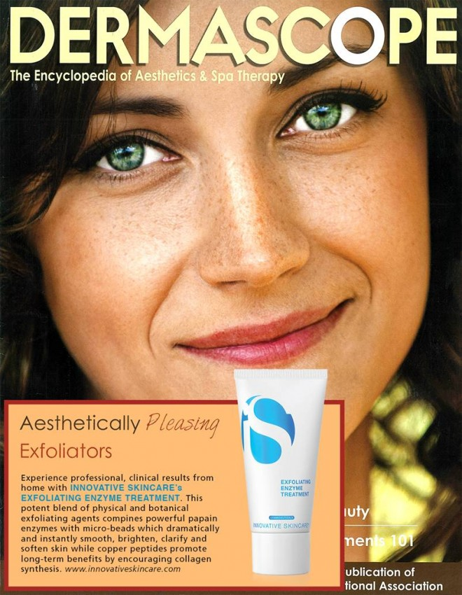 iS Exfoliating Enzyme Treatment featured in Dermascope Magazine